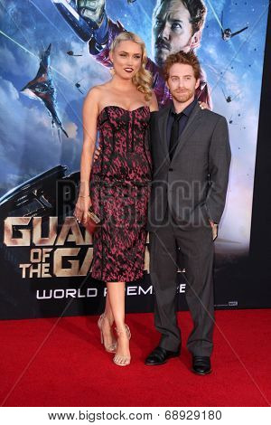 LOS ANGELES - JUL 21:  Clare Grant, Seth Green at the