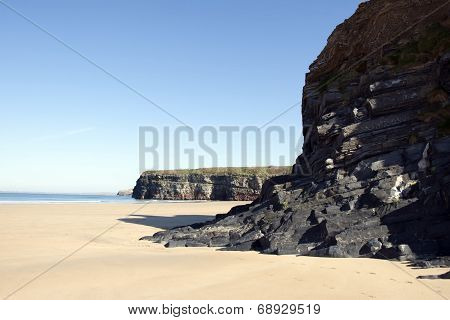 Beach Cliffs On The Wild Atlantic Way
