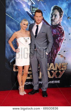 LOS ANGELES - JUL 21:  Anna Faris, Chris Pratt at the