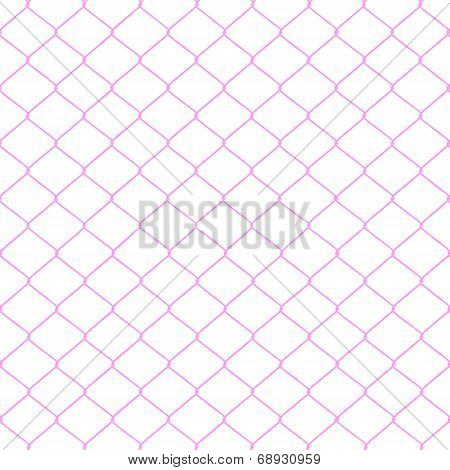 Pink Chainlink Fence
