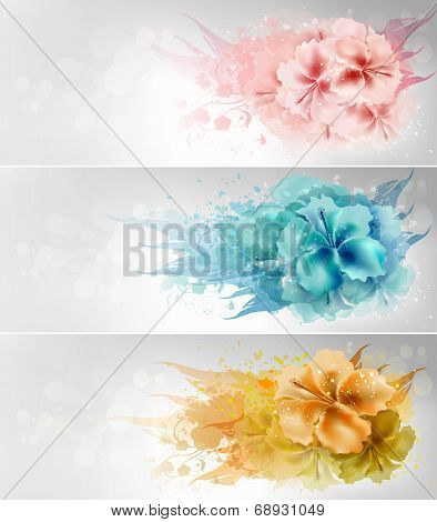 Set Of Floral Design