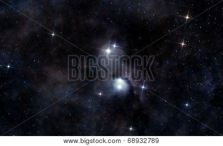 Interstellar Cloud In Deep Space