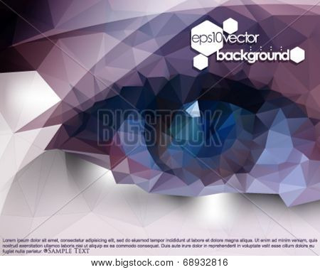eps10 vector polygon shape eyes abstract background