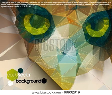 eps10 vector polygon shape bird abstract background