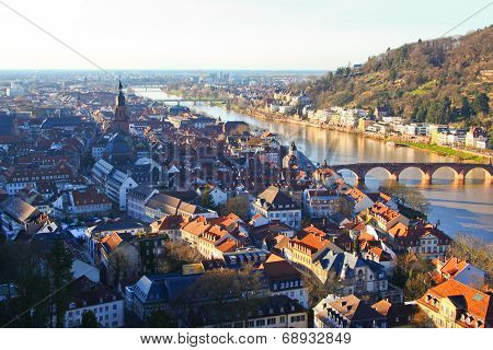 Aerial view of Heidelberg, Germany