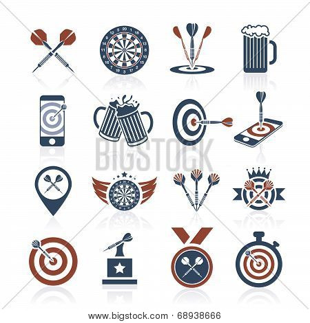 Darts icon set