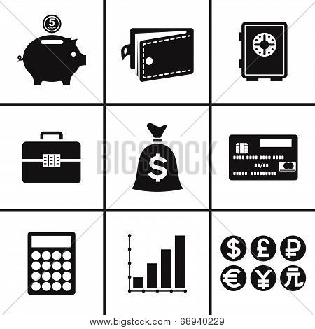 Business and financial icons set