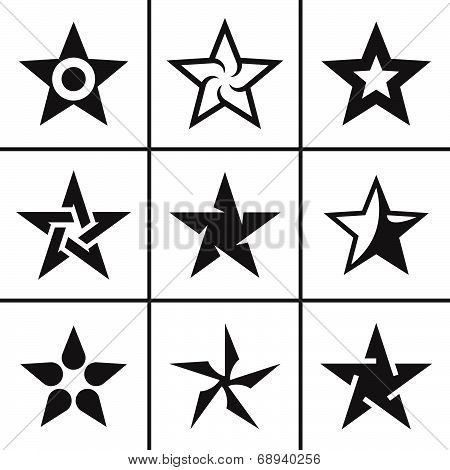 icon Star icons set