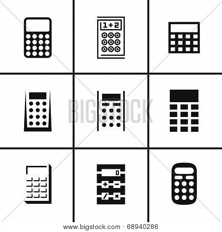Calculators icons set