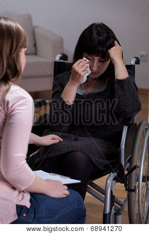 Disabled Woman And Her Therapist
