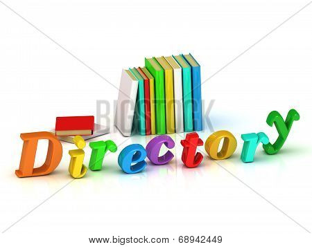 Directory Inscription Bright Volume Letter And Textbooks