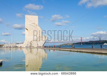 embankment of river Tagus, Lisbon, Portugal