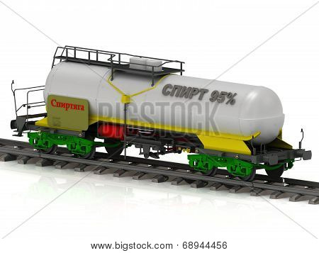 Railway Tank With Silver Inscription Spirt 95 (alcohol)