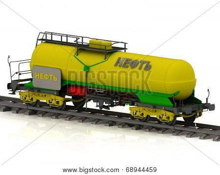 Railway Tank With Golden Inscription Oil