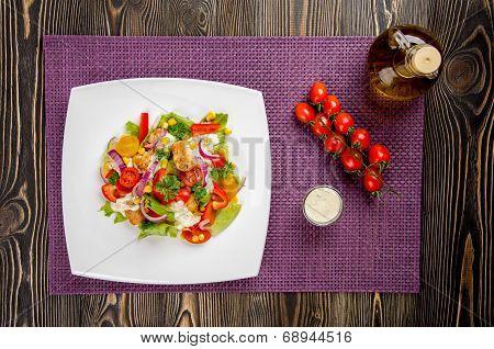 Chicken Gyros Salad