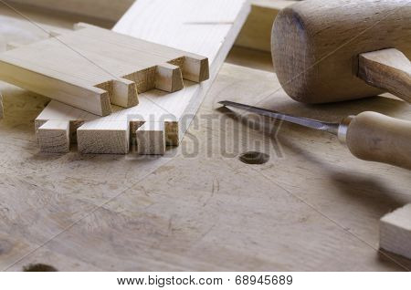 Pins And Tails Of Dovetail Joint
