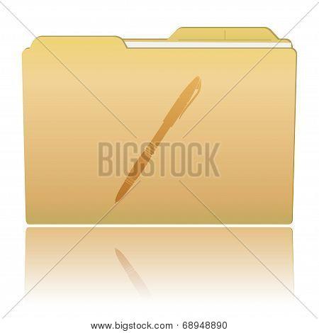 Folder With Pen