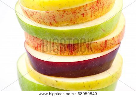 Sliced Apples Background