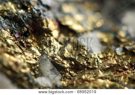 Golden Background, Rather Unique Macro Photo, For Your Bright Golden Successful Business Design.
