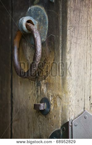 Japan, Nara, Todai-ji Temple, Door knobs of shrine, close-up