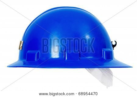 Blue Hardhat Sideview
