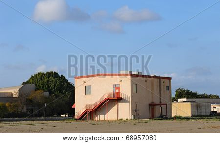 TUSTIN, CALIFORNIA - MAY 15, 2013: Helium Building at the former MCAS, Tustin, CA. Many of the buildings on the site are slated for preservation and the centerpiece of a new Regional Park.
