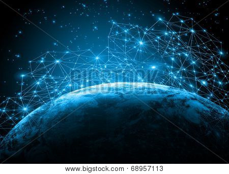 Best Internet Concept of global business from concepts series.Elements of this image furnished by NASA