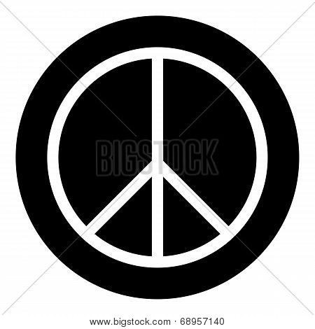 Peace Symbol Buttom