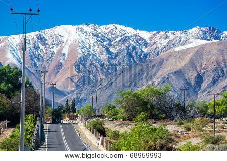 Road Through Andes Mountains