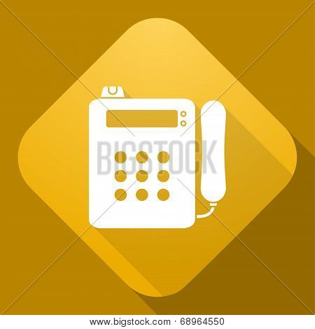 Vector Icon Of Payphone With A Long Shadow