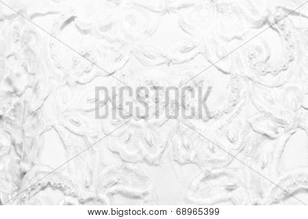 Textured Wedding Background Of Soft Beads And Lace