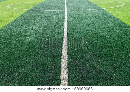White Center Line On Football Field