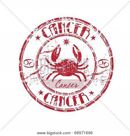 Cancer grunge rubber stamp