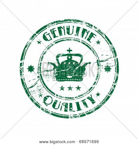 Genuine quality grunge rubber stamp