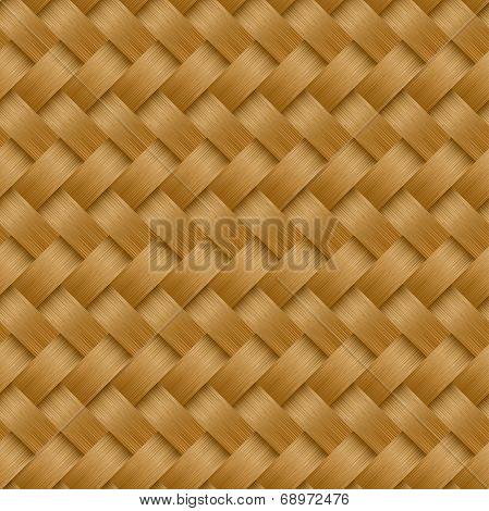Cane Woven Fiber Seamless Pattern