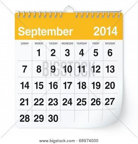 September 2014 - Calendar