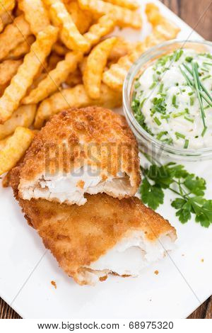 Portion Of Fried Salmon (with Chips)