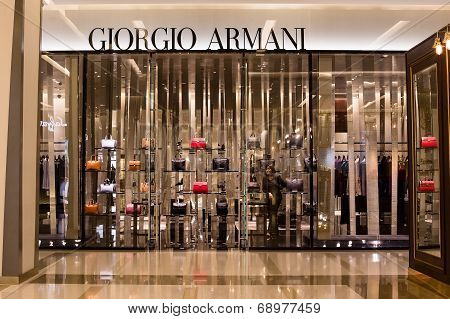 Front View Of Giorgio Armani Store In Siam Paragon Mall, Bangkok