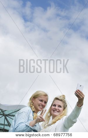 2 Students Take A Selfie