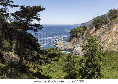 Big Sur coast in scenic central California.