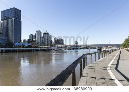Brisbane Australia riverwalk at Southbank