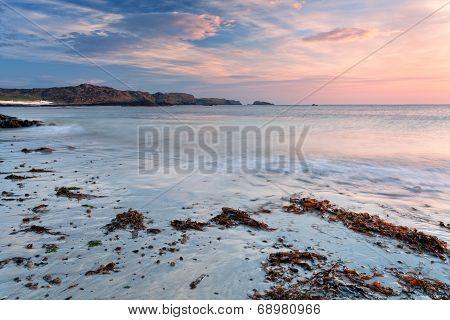 Soft Color Sunrise On Iona Beach, Scotland