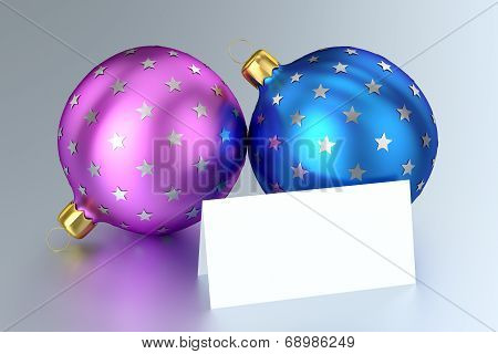 Christmas Balls with Blank Card
