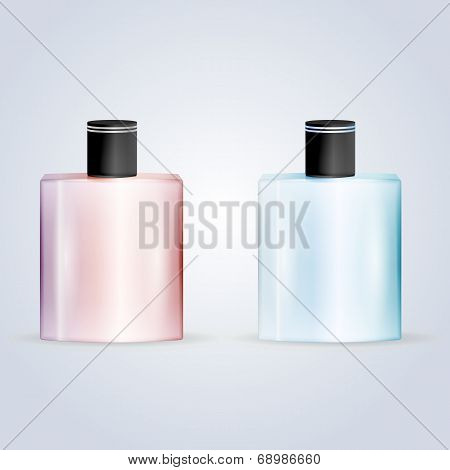Vector illustration of perfume flasks