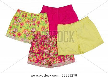 Collage Of Shorts Clothing