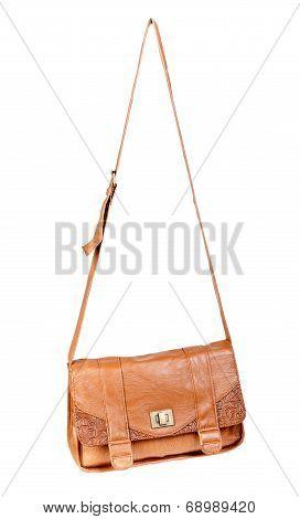 Brown Leather Handbag Fashionable