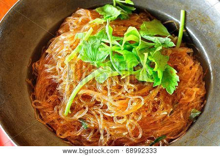 Steamed Crab Vermicelli On A Plate.