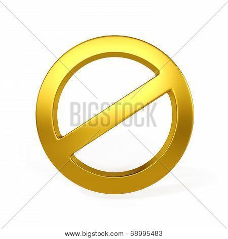 Golden Forbidden Sign