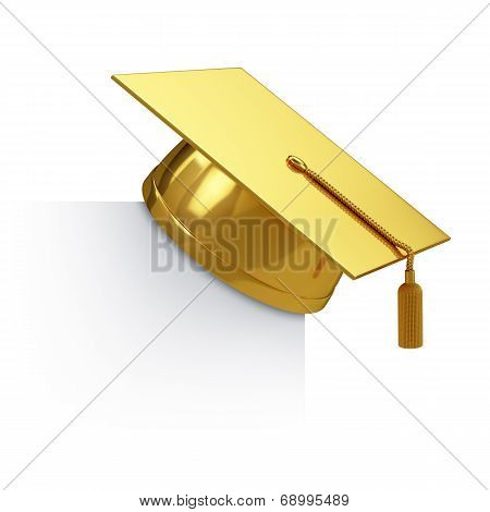 Graduation Cap Golden