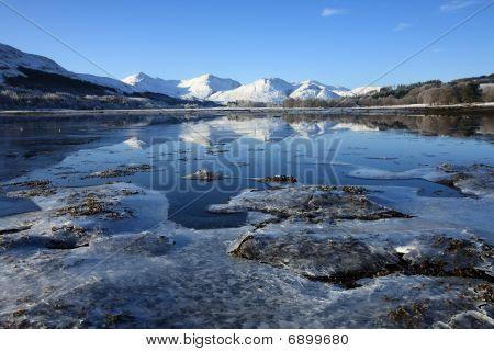 Loch Eil in winter.